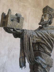 Normannerkongen Giuglielmo II med katedralen, Monreale. Foto: KirstenSoele
