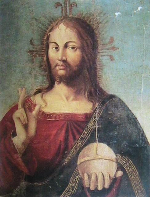 Billede af Kristus af Antonello da Messina fra 1400 tallet.