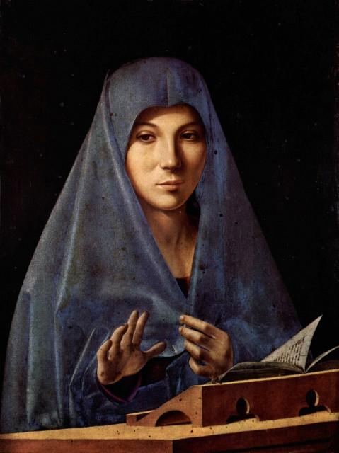 Annunziata, Palazzo Abatellis, Palermo. Kunstmaler: Antonello da Messina