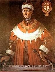 Den normanniske konge Roger I af Sicilien,, Wikimedia
