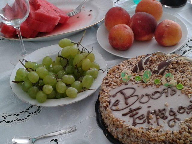 Dessert ved familiefrokosten til Ferragosto den 15. august. Foto: Kirsten Soele