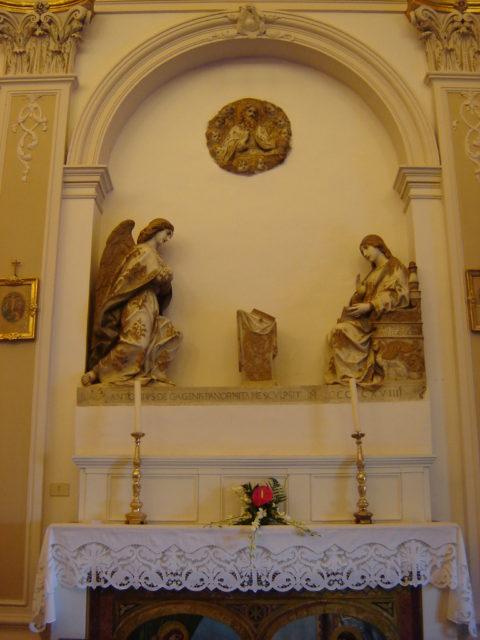Mariæ bebudelsesdag af A. Gagini. Chiesa di S. Agata. Wikimedia 2006