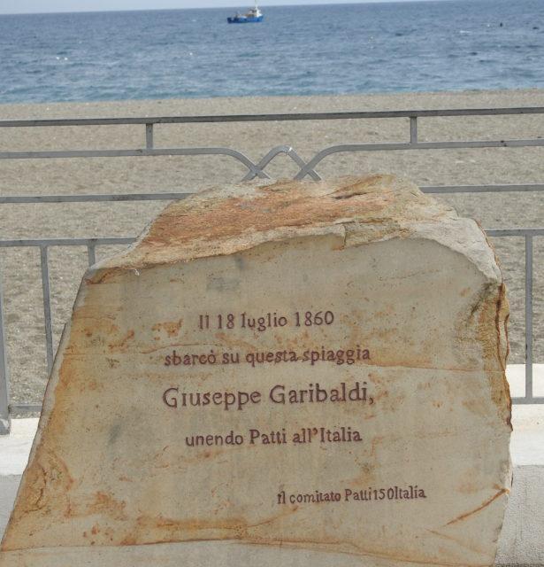 Til minde om Garibaldis landgang på Sicilien i 1860. Foto: KirstenSoele