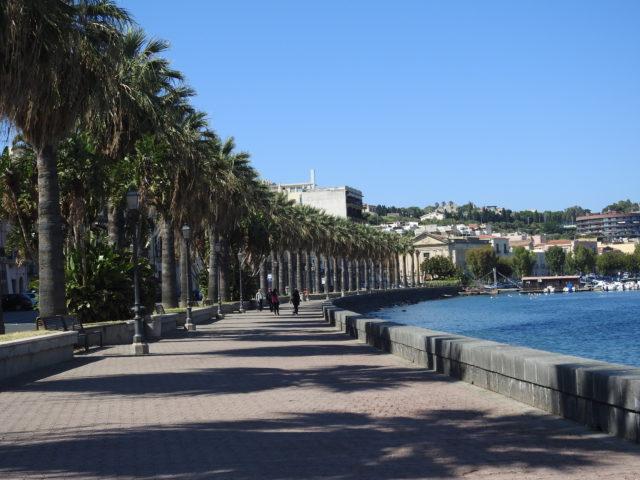 Lungomare Garibaldi, strandpromenaden i Milazzo. Foto: KirstenSoele