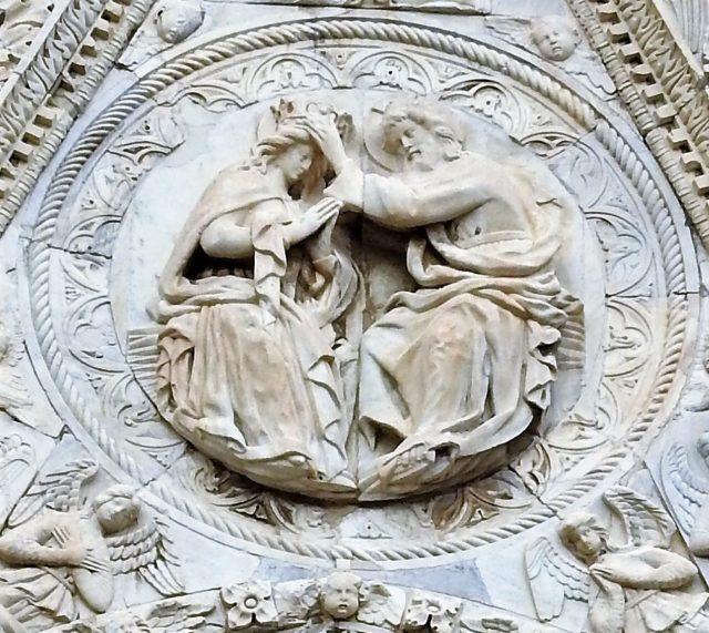 Pietro de Bonitates medaljon af Kristi kroning af Jomfru Maria. Foto: KirstenSoele