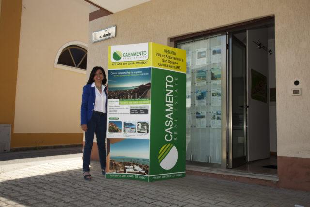Bygge- og ejendomsmæglerfirmaets Casamentos kontor i San Giorgio di Gioiosa Marea. Foto: