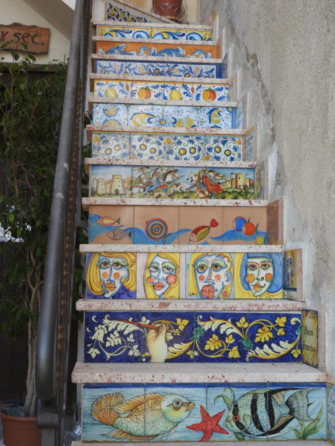 Keramiktrappe i Sciacca. Foto: KirstenSoele