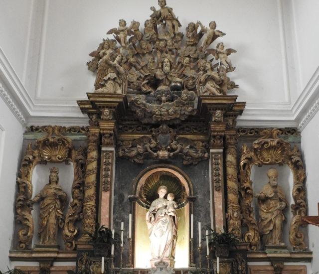 Højalteret med statue af Madonna della Neve, udført af Antonello Gagini. Foto: KirstenSoele