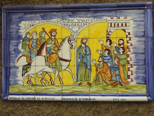 """""""Hyldelst til Siciliens store konge"""", Frederik III af Aragonien, 1273 - 1337"""