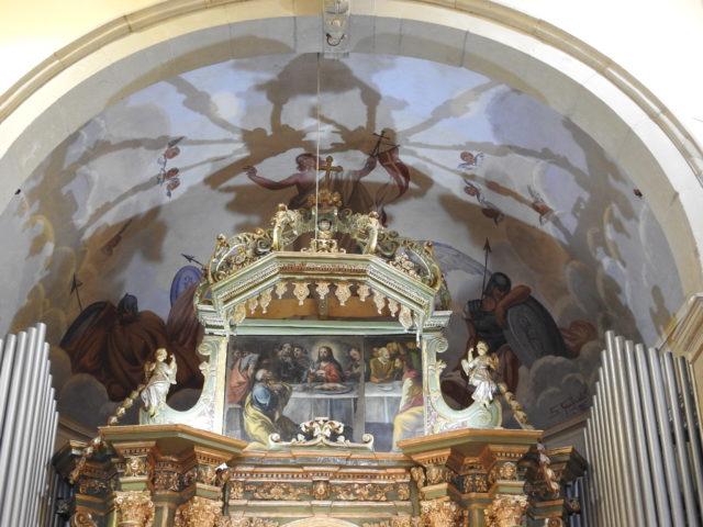 Kuplen over hovedalteret i Montalbano Eliconas Domkirke. Foto: KirstenSoele