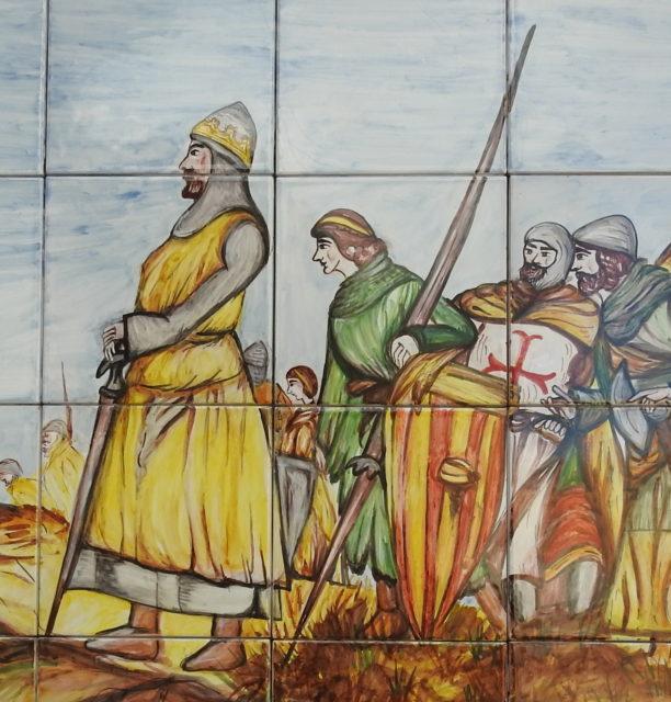 Re Pietro III d'Aragona. Vægkakler i Montalbano Elicona. Ceramiche Calderone, Patti