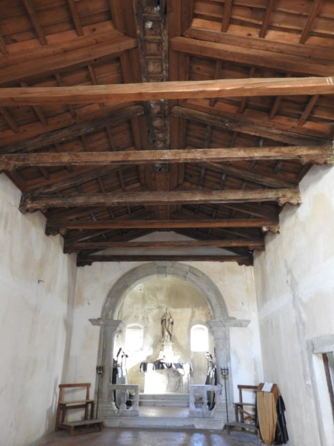 Træloft i kirken Santa Carerina d'Alessandria. Foto: KirstenSoele