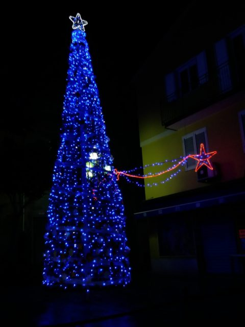 Juletræ i Gioiosa Marea (ME). Foto: KirstenSoele