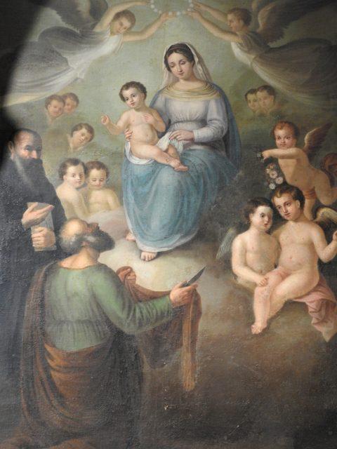 San Bartolomeo foran Jomfruen. Værk af Pattikunstneren Francesco Nachera fra 1848. Foto: KirstenSoele