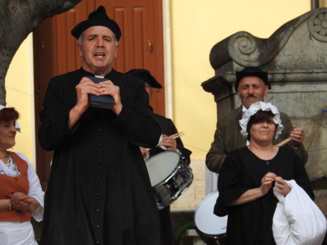 Dramatisering af begivenhederne, der førte til udvandring fra Gioiosa Guardia. Foto: KirstenSoele