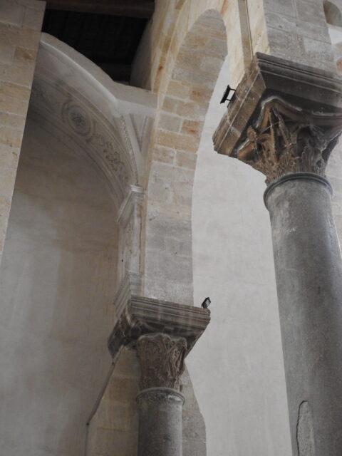Søjler fra antikke bygningsværker. Foto: KirstenSoele