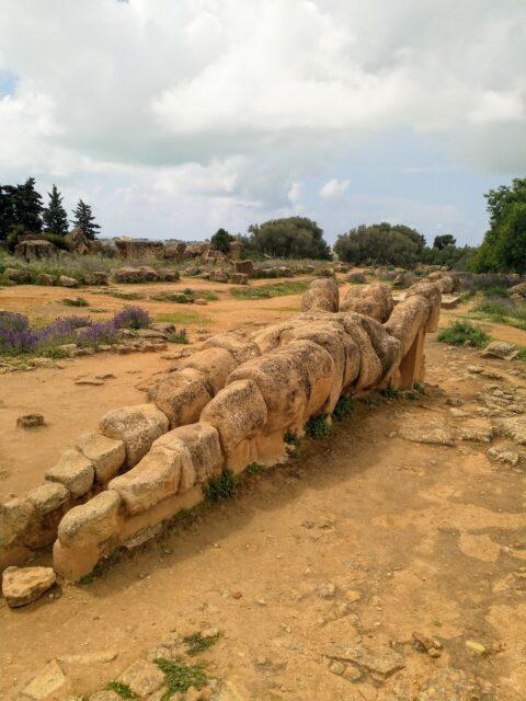 Telemon fra Zeustemplet, her liggende foran Zeustemplet. Foto: Ulla Barfod