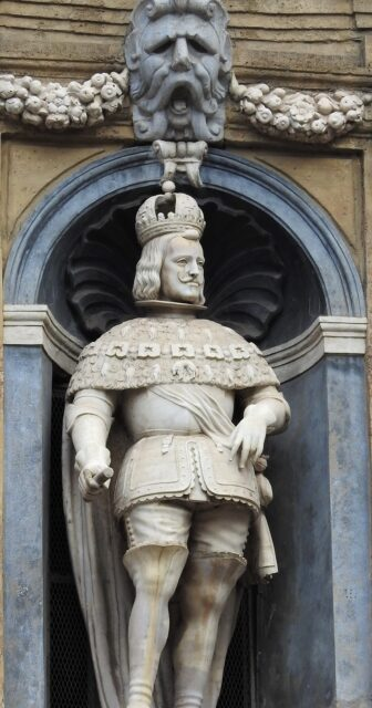 Statue af Filippo IV i Quattro Canti i Palermo. I perioden med vicekonger var Filippo IV konge af Sicilien fra 1700 - 1713. Foto: KirstenSoele