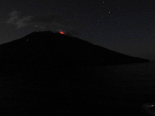 Vulkanen på Stromboli i udbrud. Foto: Kirsten Soele