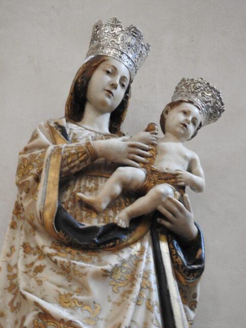 Madonna con bambino, skabt af Antonello Gagini i 1533. Foto: KirstenSoele