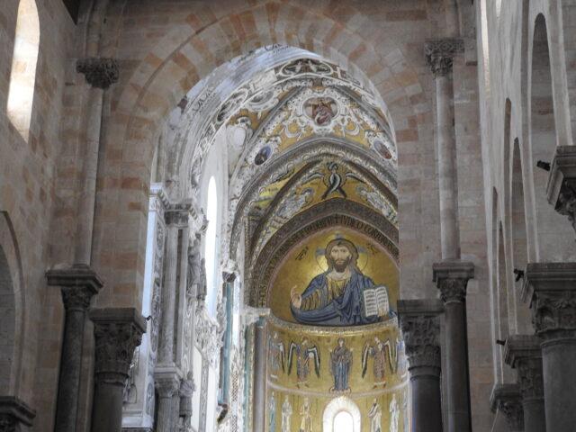 Byzantinsk mosaik af Pantokrator. Cefalù Domkirke. Foto: KirstenSoele